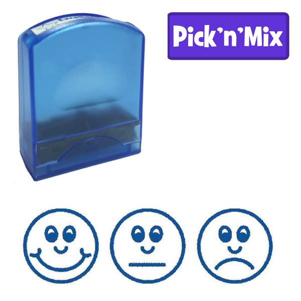Teacher Stamps Three Faces Blue Ink Value Range Free Delivery
