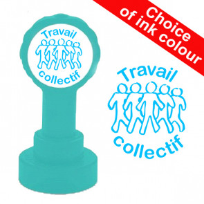 Teacher Stamps | Travail collectif - Self-Inking Xclamations French School Stamp