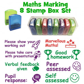 Teacher Stamps   Maths / Numeracy School Stamps - Boxed set