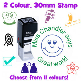 2 Colour Custom Stamps