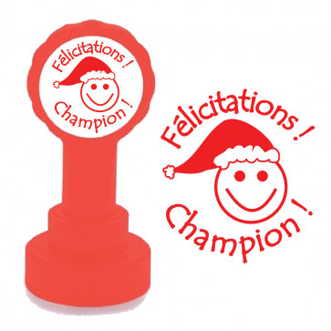Teacher Stamps | Félicitations ! Champion !  - Self-Inking Xclamations Stamp