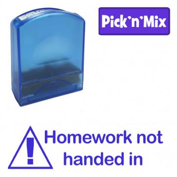 School Stamps   Homework not handed in, Self-inking Teacher Stamp