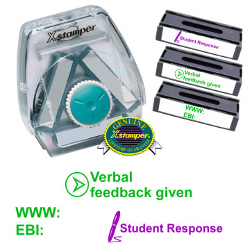 3-in-1 stamp set | WWW/EBI, Student Response, Verbal feedback given