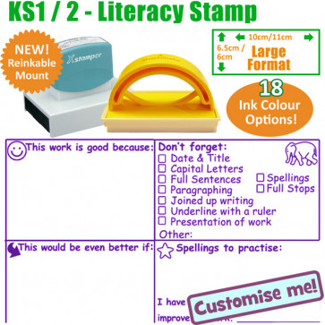 Teacher Stamp | Key Stage 2 & 3 Literacy Comments Comprehensive Marking Stamp