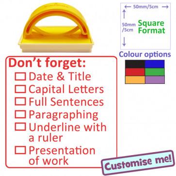 Teacher Stamp   Literacy Marking Checklist