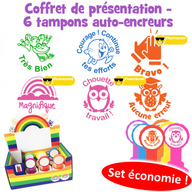 French Praise Teacher Stamp Box Set - Les Mots d'Eloge
