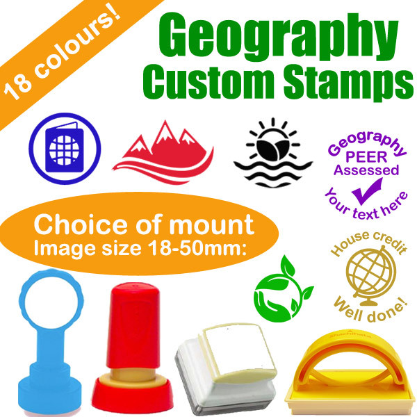 custom stamps geography subject personalised stamps for teachers