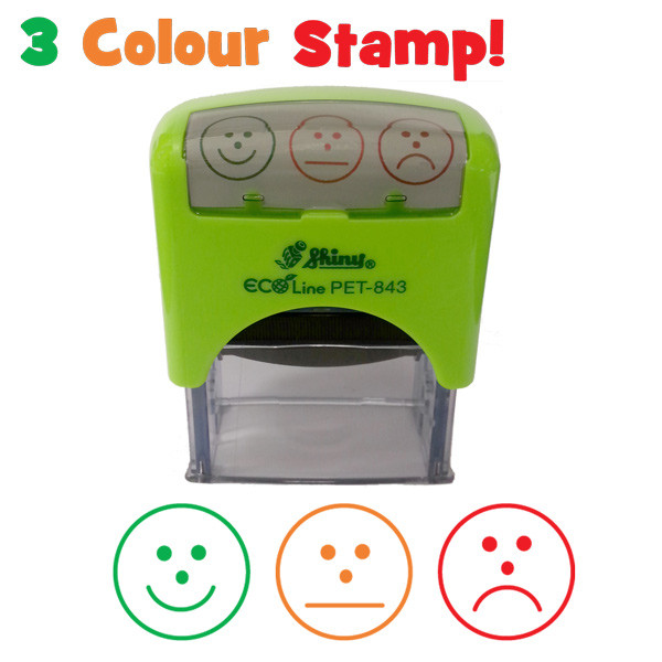 School Stamps  MultiColour Faces SelfAssessment Teacher Stamp