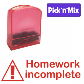 School stamps | Homework incomplete, Red Ink Teacher Stamp