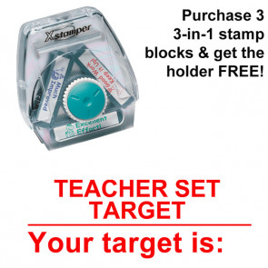 School Stamps | Teacher Set Target / Your Target Is - 3-in-1 XStamper, Twist n Stamp