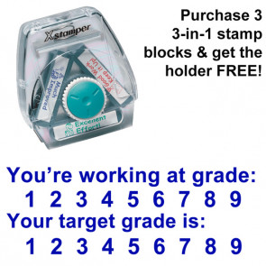 School Stamps | You're working at grade / Your target grade is - 3-in-1 XStamper, Twist n Stamp