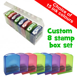 Custom Stamps | Custom Stamp Box Set - 6 to 8 Self-inking Stamps