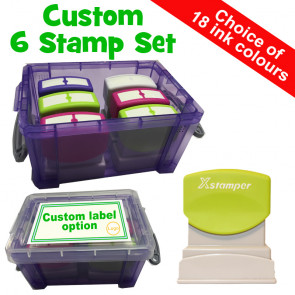 ps | Custom Stamps, 6 Xstamper N10 Box Set