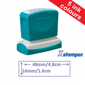 Custom Stamps | Quix Self-inking, Reinkable Xstamper 14x60mm