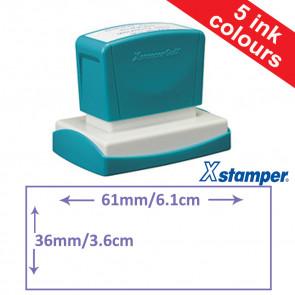 Custom Stamps | Quix Self-inking, Reinkable Xstamper 14x60mm