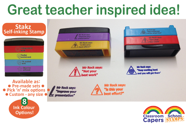 Custom Stamps - Stakz Teacher Stamp Idea