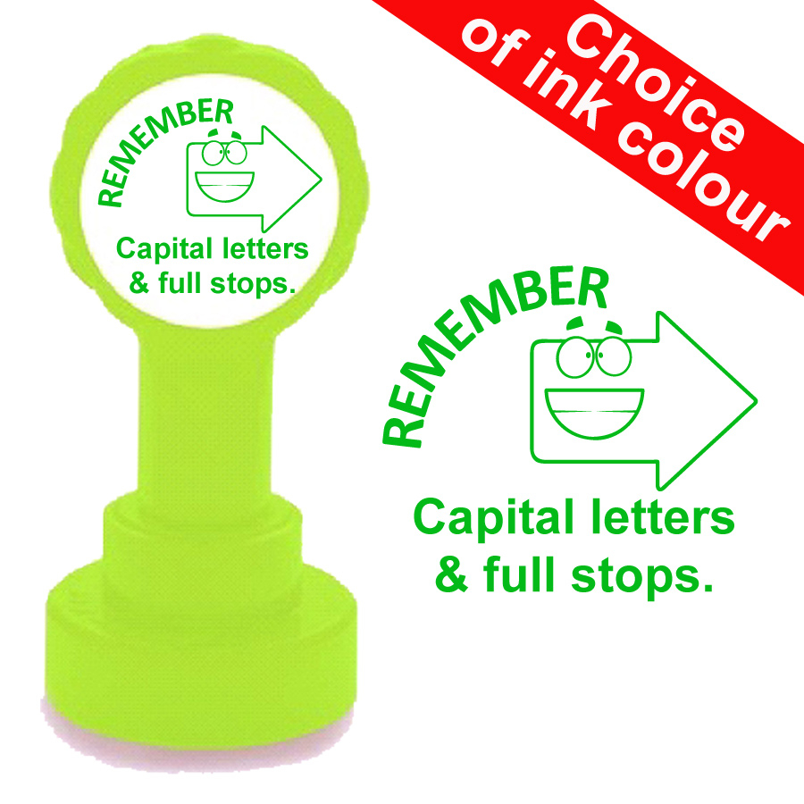 Remember capital letters and full stops teacher stamp
