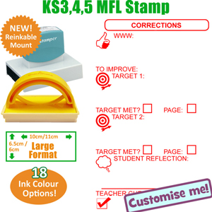 Teacher Designed MFL Languages stamp