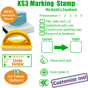 Presentation, Targets, Feedback School Stamp