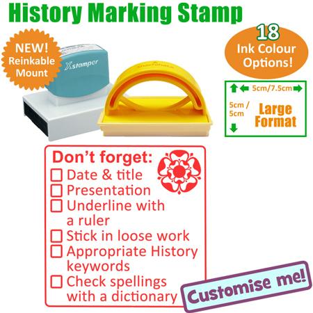 History Checklist Marking Teacher Stamp