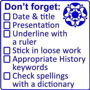 History Marking Teacher Stamp with Checklist