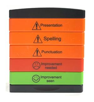 New Warning & Improvement Teacher Stamp