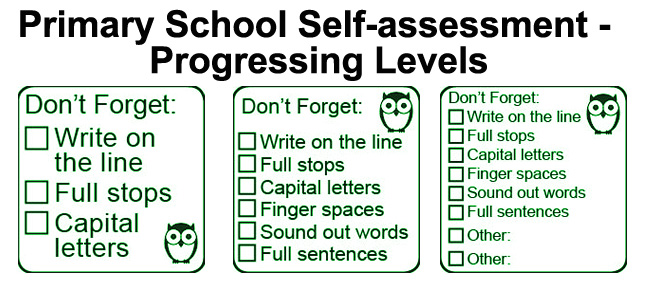 3 step peer and self assessment stamp set
